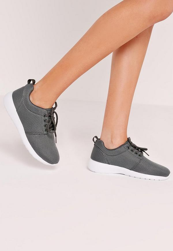Lace up trainer Grey