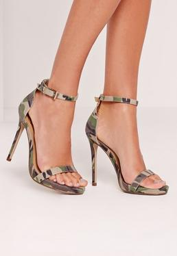 Barely There Sandal Camouflage