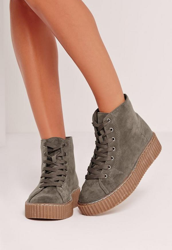 High Top Flatform Khaki
