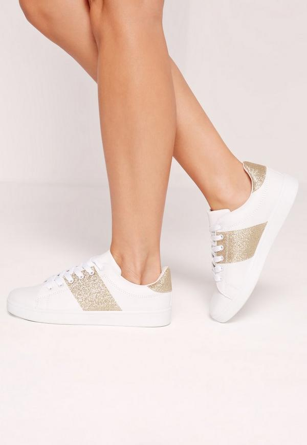 Gold Contrast Strip Trainers