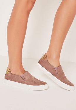 Pink Glitter Tab Skater Sneakers