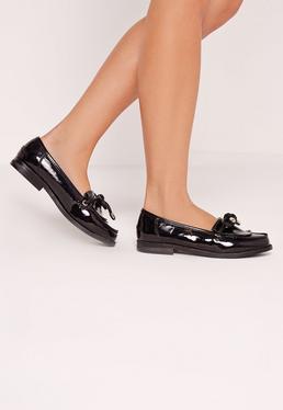 Tassel Slip On Loafers Black