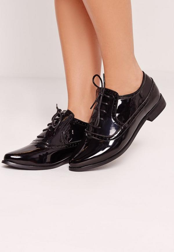 Patent Brogues Black
