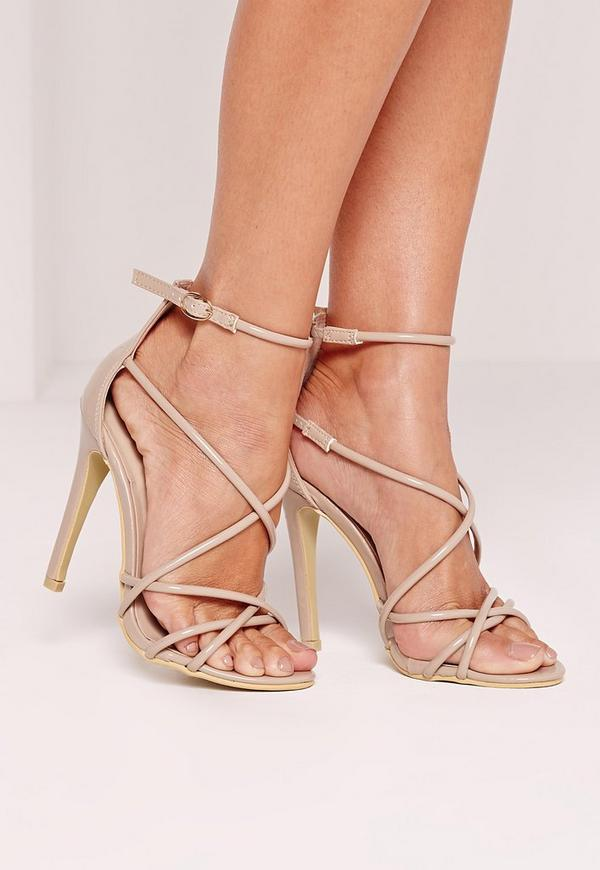 Strappy Barely There Heeled Sandals Nude