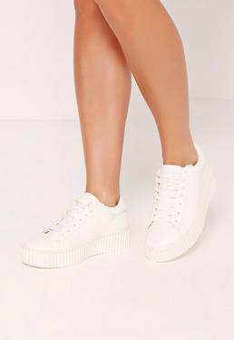 Flatform Creepers White