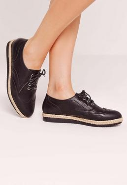 Espadrille Brogues Black