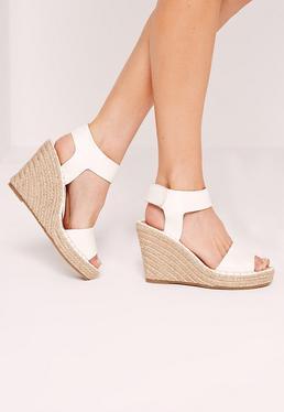 Espadrille Wedge Sandals White