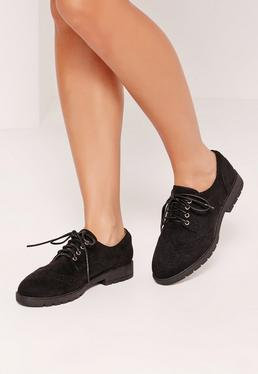 Lace Up Brogues Black
