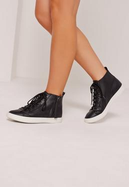 High Top Trainers Black