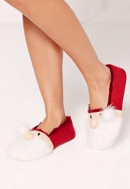 Santa Ballerina Slippers Red