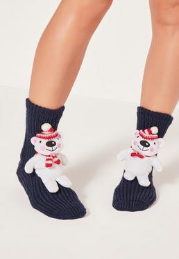 Polar Bear Gift Socks White