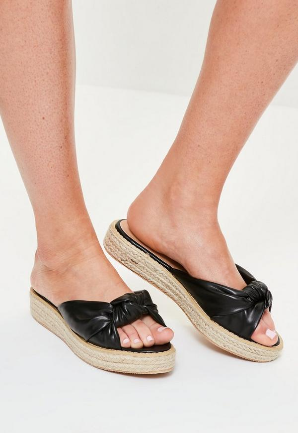 Black Knot Front Sliders