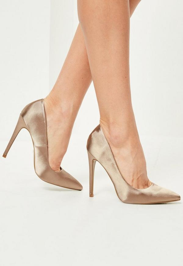 Nude Satin Shoes 72