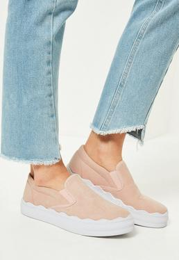 Pink Wave Sole Flatform Sneakers