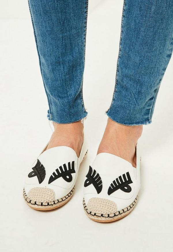 White Character Espadrilles