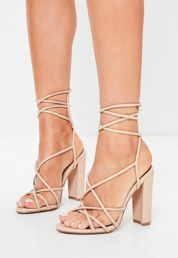 Nude Multi Strap Sandals