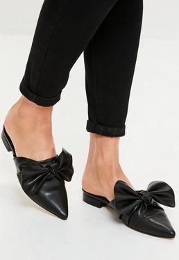 Black Knot Front Pointed Mules