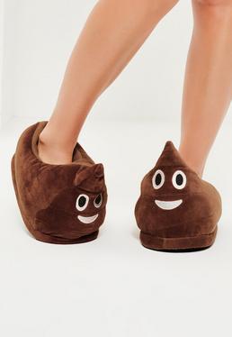 Poo Emoji Slippers