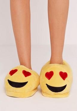 Yellow Love Emoji Slippers