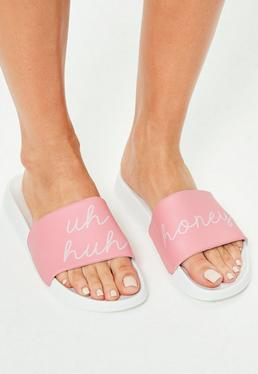 Pink Slip On Uh Honey Slogan Sliders