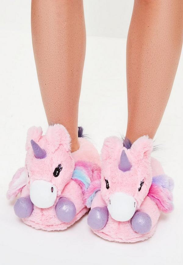 pink unicorn slippers missguided. Black Bedroom Furniture Sets. Home Design Ideas