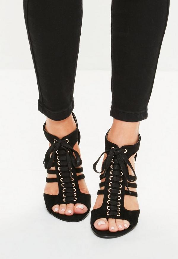 schwarze cut out high heels missguided. Black Bedroom Furniture Sets. Home Design Ideas