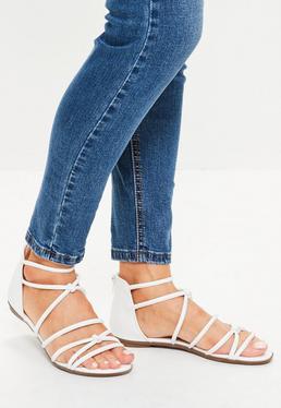 Schnür-Sandalen in Weiß