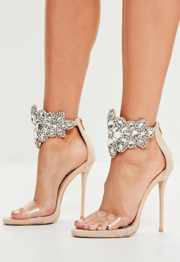 f8044fd8b0533 ... Peace + Love Nude Embellished Barely There Heeled Sandals. Previous Next