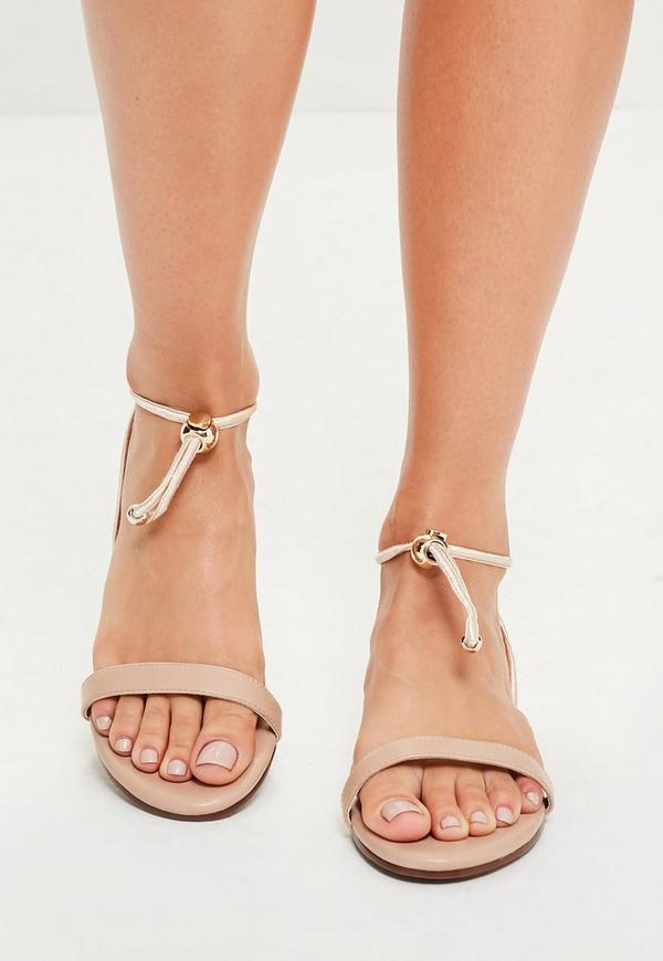 Nude Toggle Strap Sandals