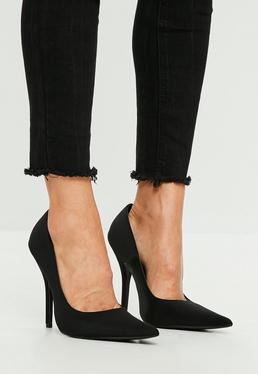 Black Extreme Pointed Pumps