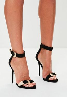 Peace + Love Large Buckle Barely There Heels