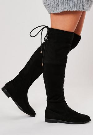 770fb3944558 £45.00. black over the knee flat boots
