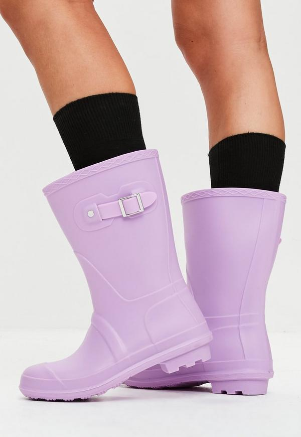 Lilac Calf Height Wellies