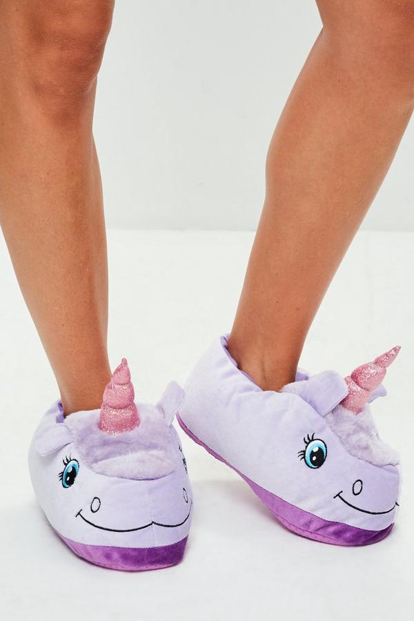 purple unicorn slippers missguided. Black Bedroom Furniture Sets. Home Design Ideas