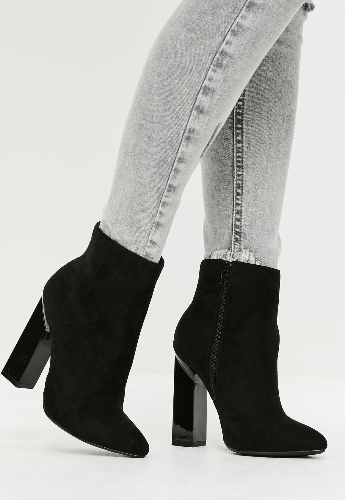 suede heel boots