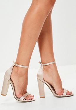 Nude Block Heel Barley There Sandals