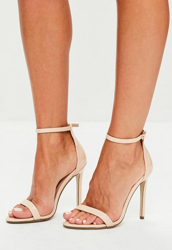 c3aabd443d3c Nude Patent Ankle Strap Heels