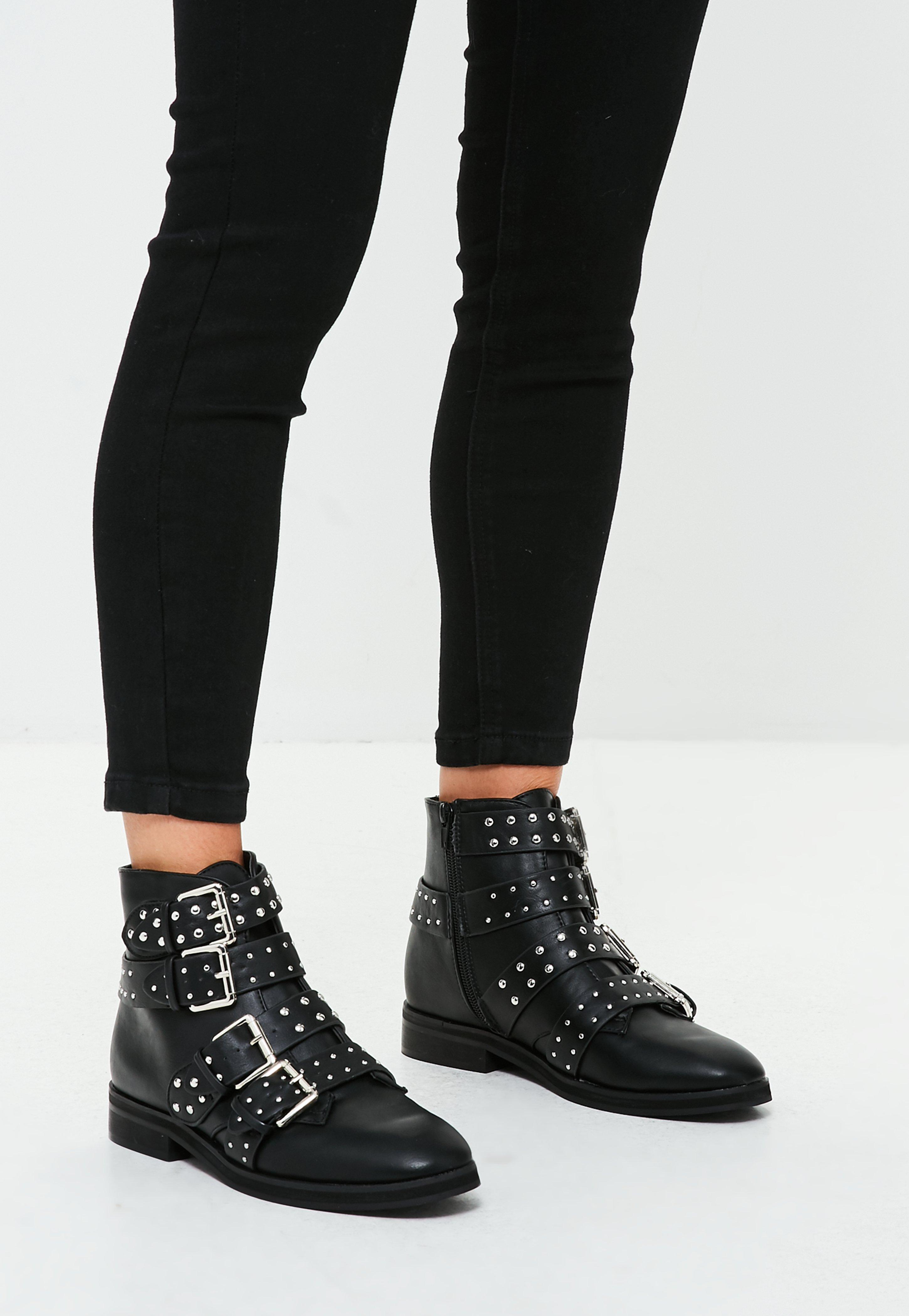 buckle strap detailed ankle boots Great Deals Cheap Price Looking For For Sale Outlet Sast IiVCt