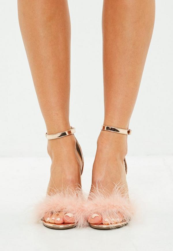 New Look Metallic Block Heeled Shoe