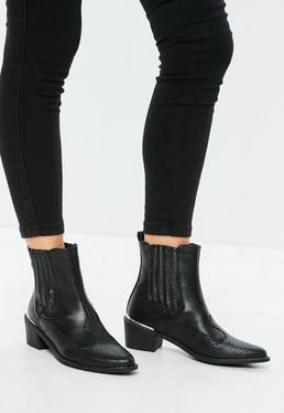 Czarne botki kowbojki chelsea