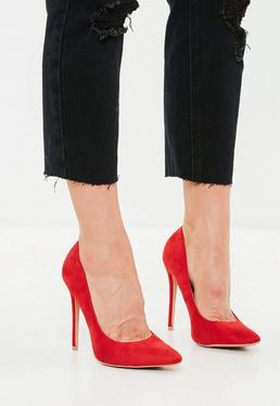 Red Pointed Court Shoe