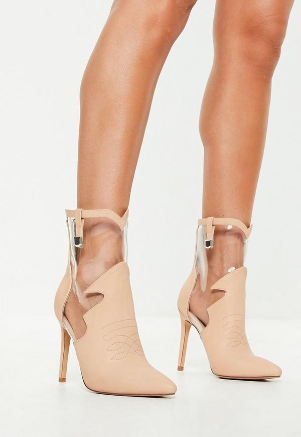 Lovely Nude Suede Heels - Ankle Strap Heels - Block Heels