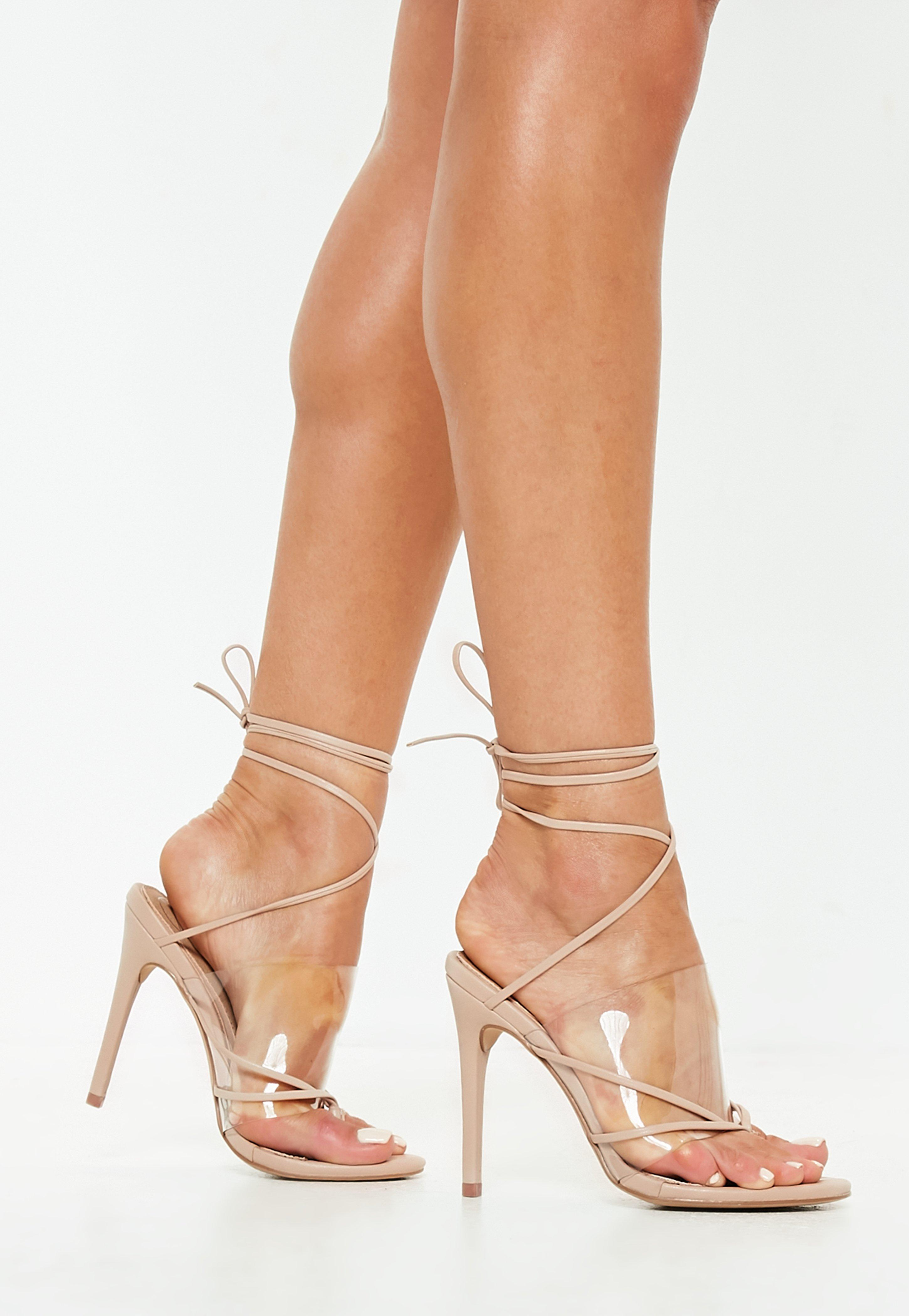 Cheap Shoes Sale Heels For Women Missguided Sandal Strape On Cream