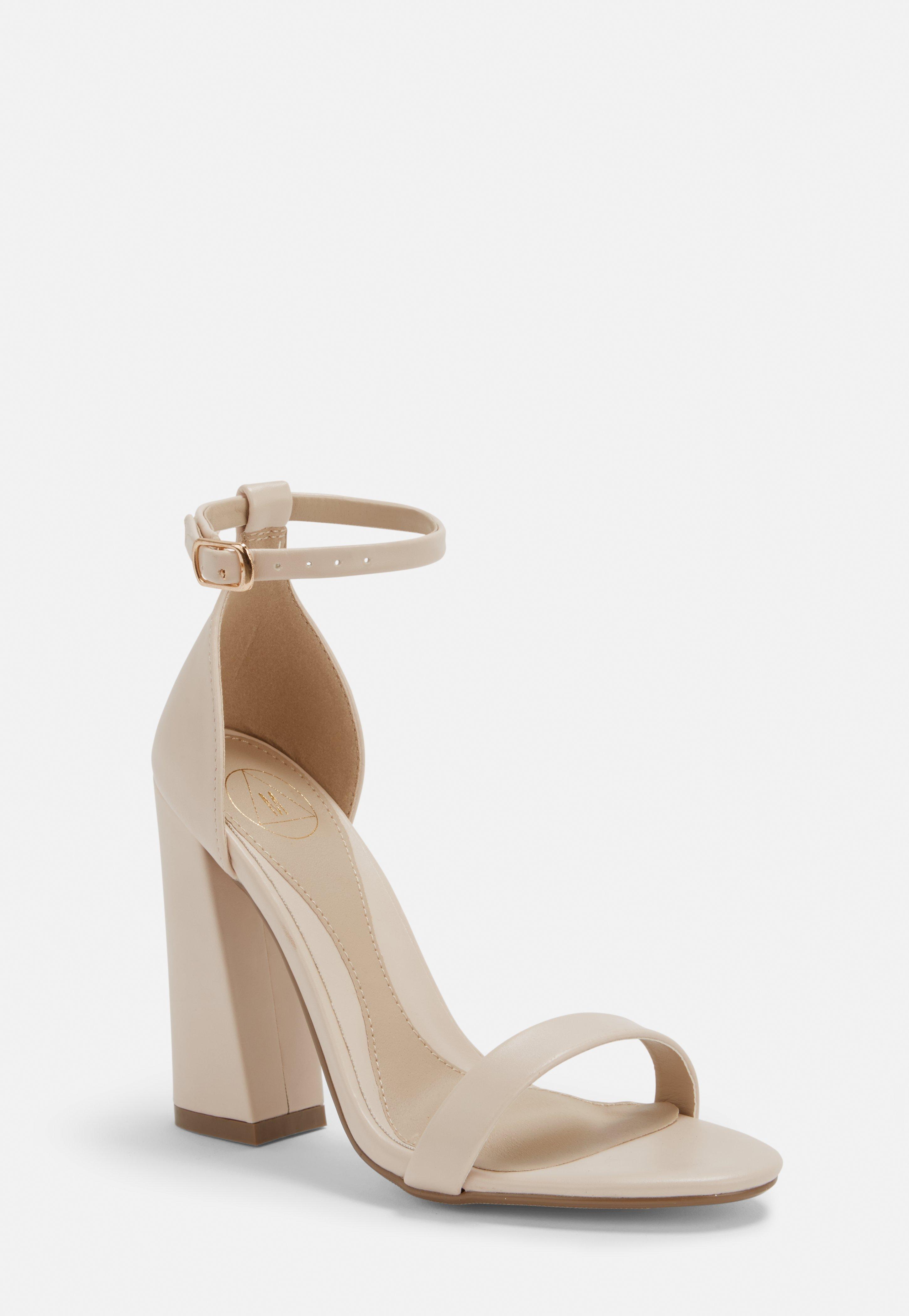 Chaussures pointues imitation daim à talons carrés - OrangeMissguided ZDI0FnQ