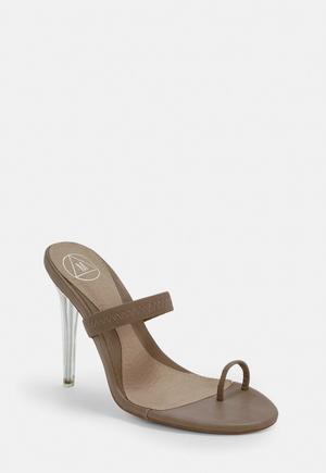 14db8f2be72 Orange Rope Pointed Toe Heeled Sandals