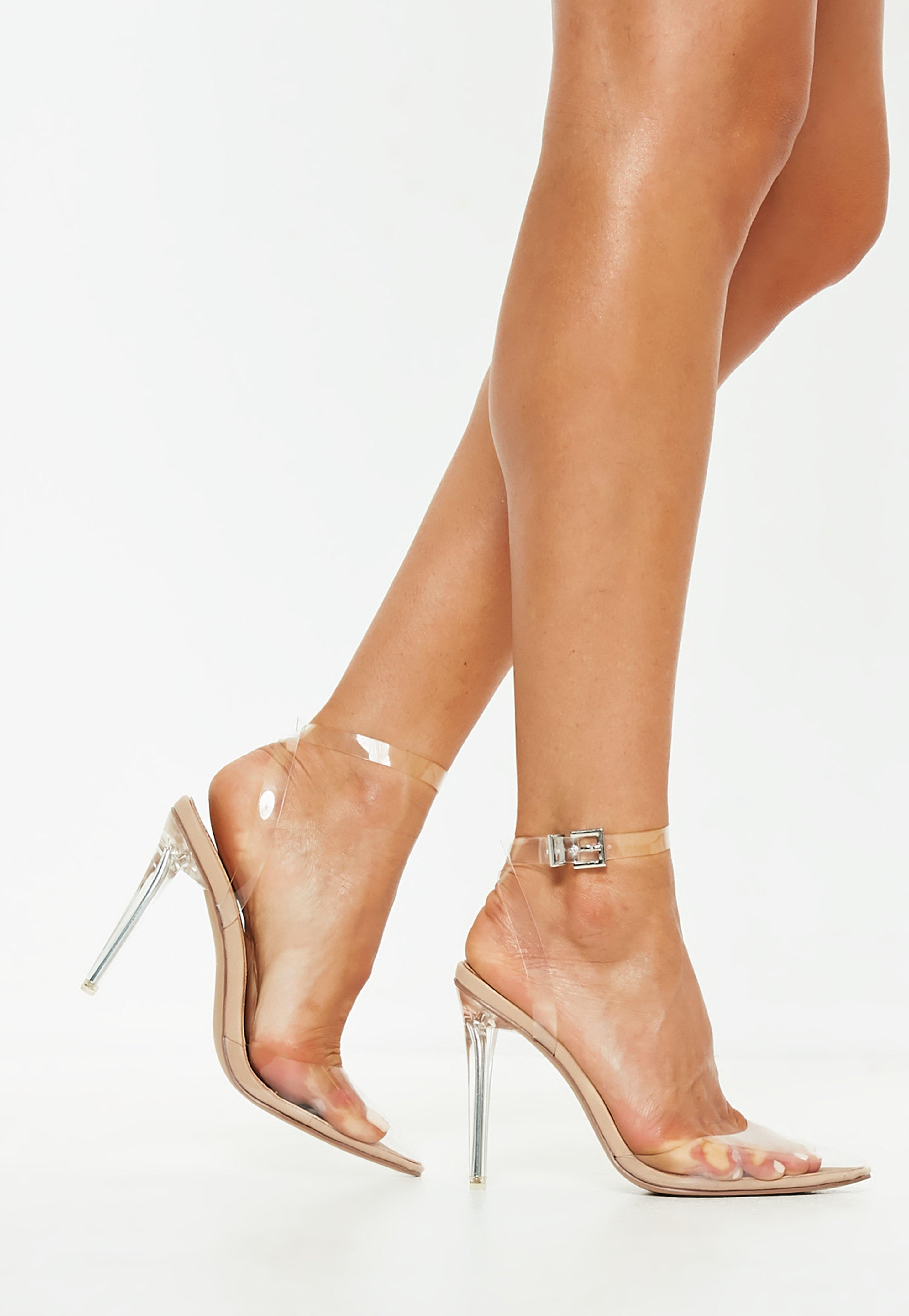 Brides Transparentes Sandales À Plastique Talons n0PNO8wyvm