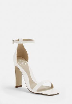71376fedff0 White Metal Studded Gladiator Sandals