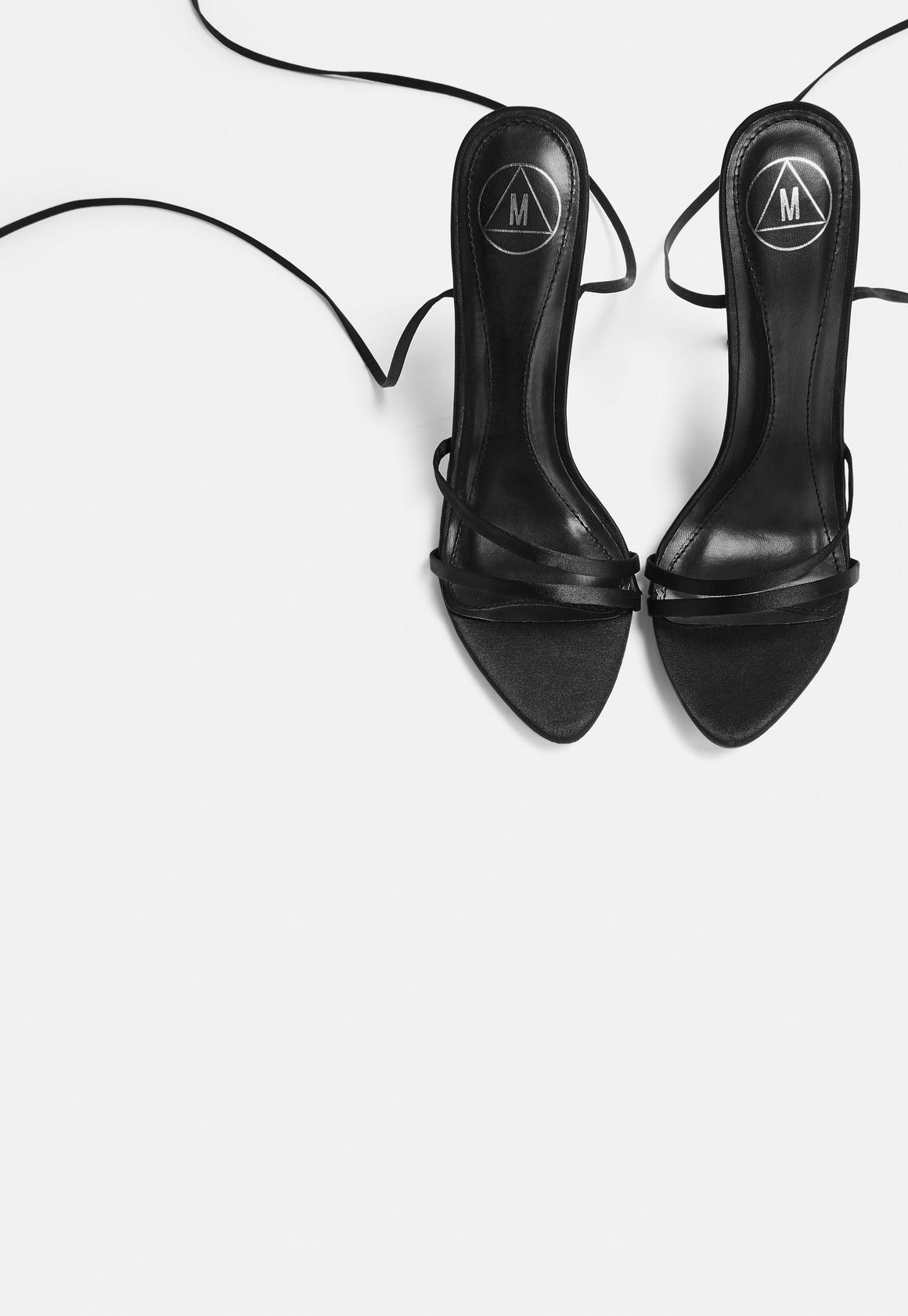 37fa89a2c05 Pointed Toe Lace Up Barely There Heels