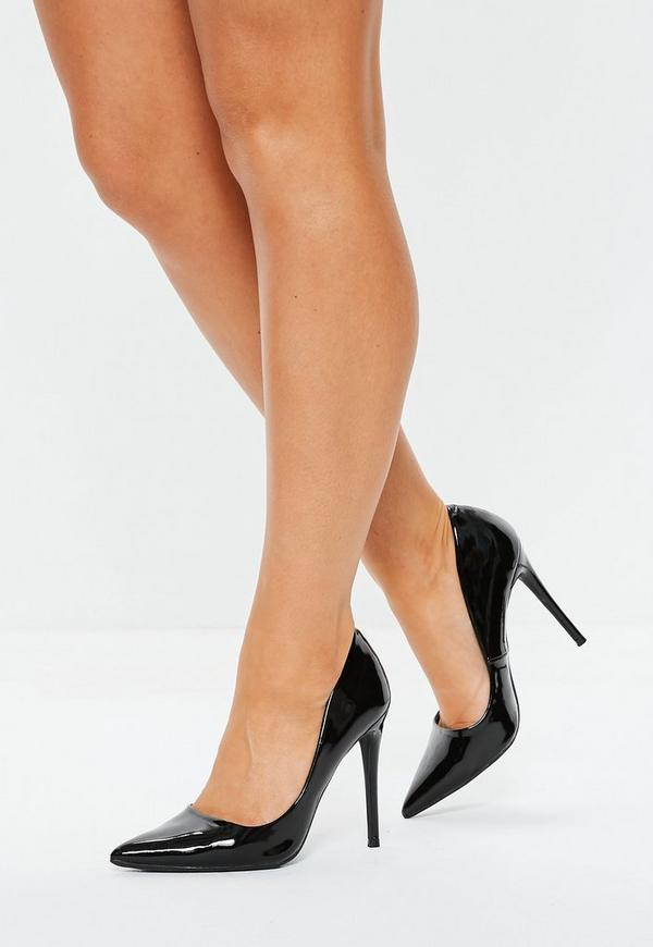 Black Patent Court Shoes Missguided