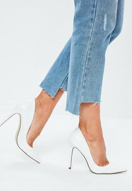 2329edf7ae White Heels | Ivory High Heels - Missguided